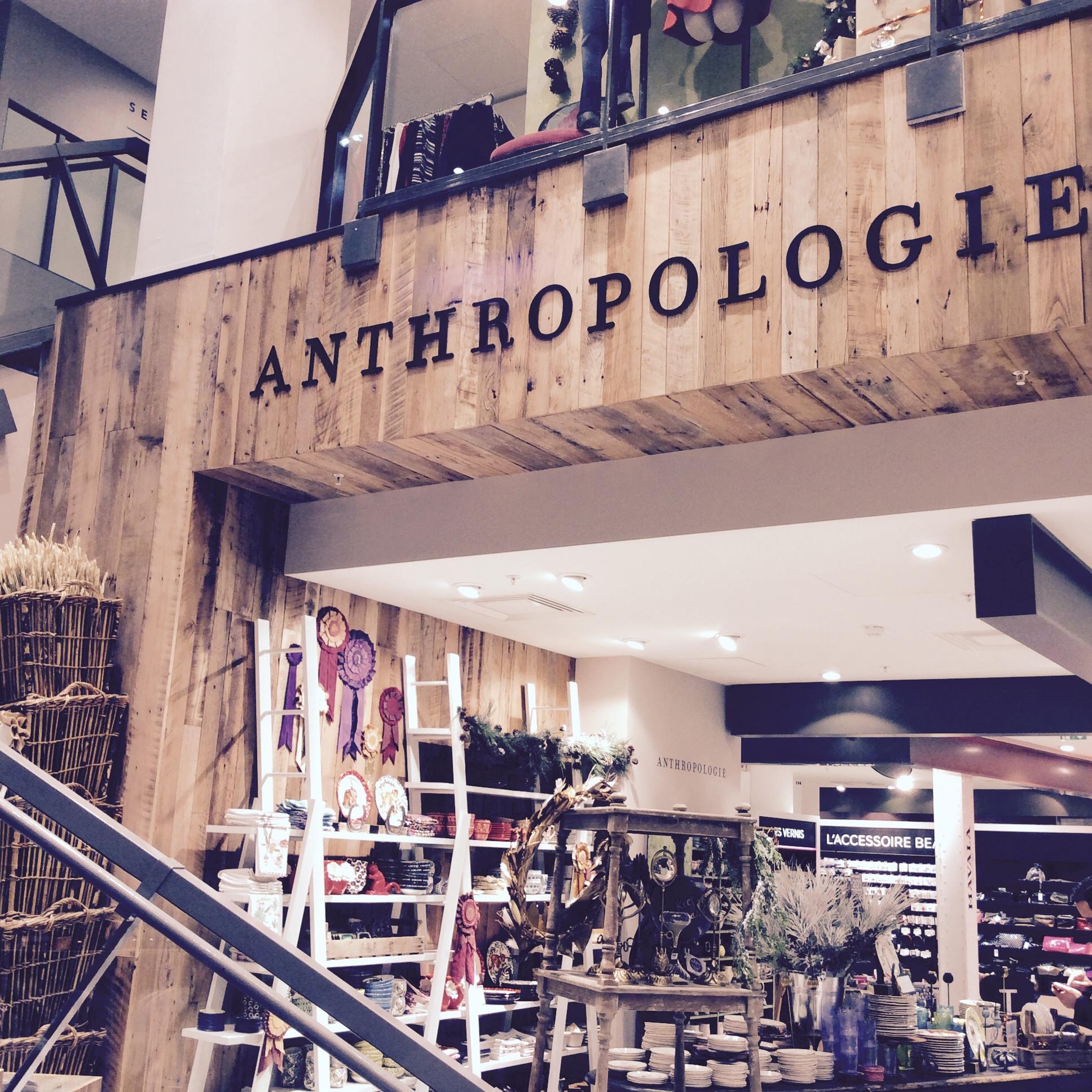 l pour la 1 re boutique anthropologie en france est au bhv marais l 39 insolente. Black Bedroom Furniture Sets. Home Design Ideas